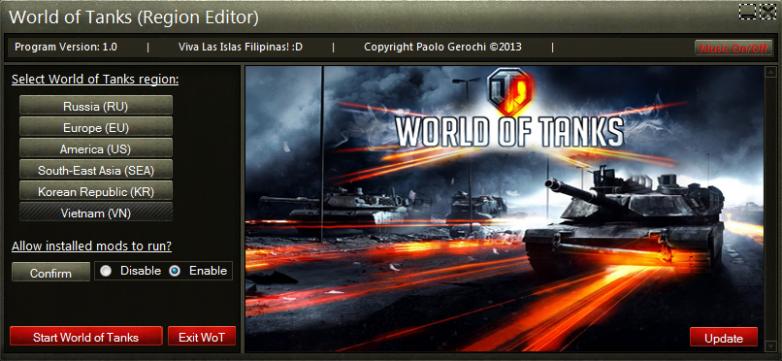 0 9 16] World of Tanks Launcher (Region Editor) | World of
