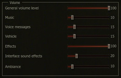 Recommended ingame volume sliders