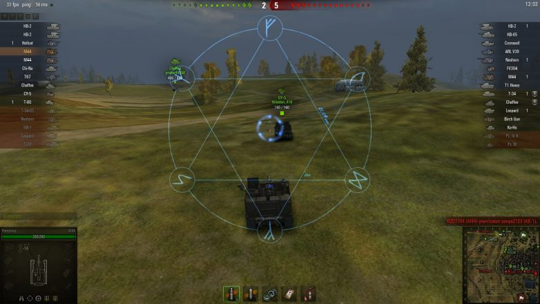 harpoon crosshair mod in world of tanks 1.0