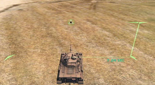 Transparent sight for WOT 0.9.101