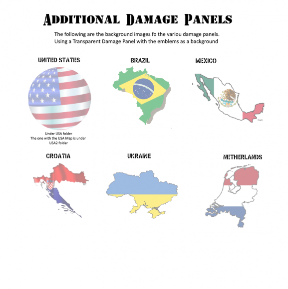 Damage Panels with National Emblems2